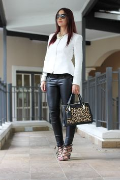 Black & White Peplum OOTD on StyleScoop