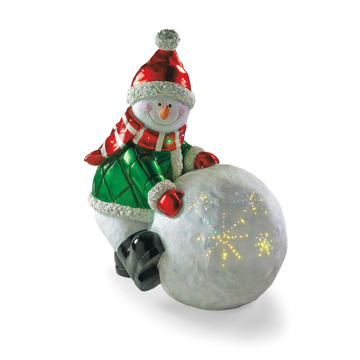 snow day fiber optic snowman - Fiber Optic Snowman Christmas Decorations