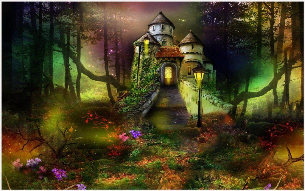 Fantasy Castle 3D Art Wallpaper