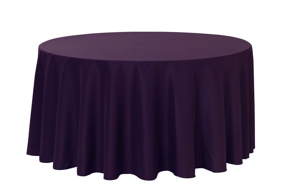 120 inch round polyester tablecloth eggplant tablecloths round rh pinterest com
