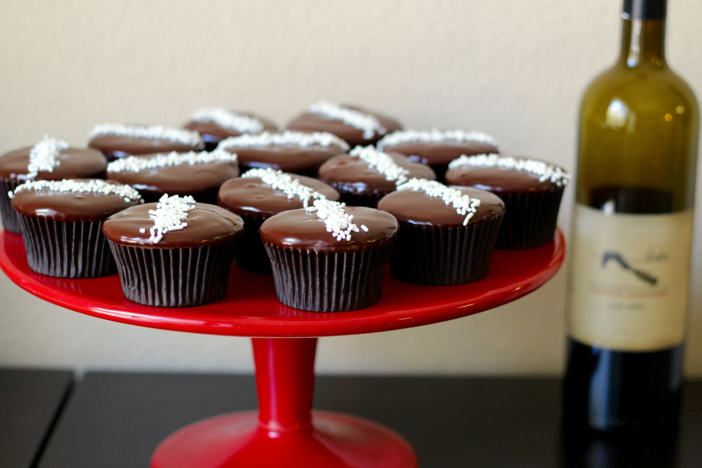 Baked Red Wine Chocolate Cupcakes - 5
