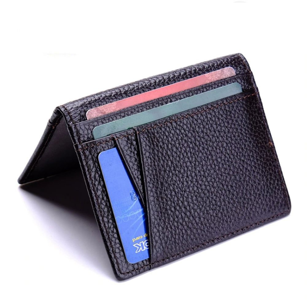 Cow leather credit card and id holder for men cow