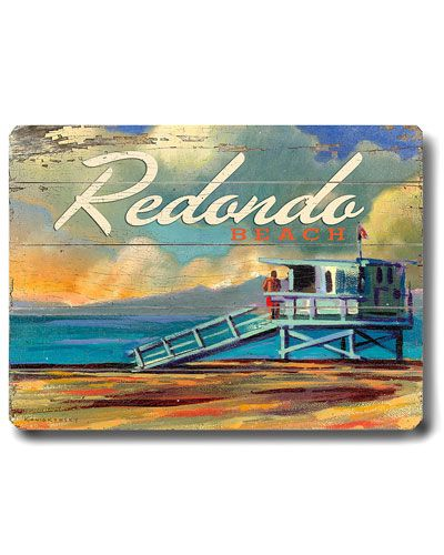 Why Hello There Style Personalized Wall Art Redondo Beach Beach Painting