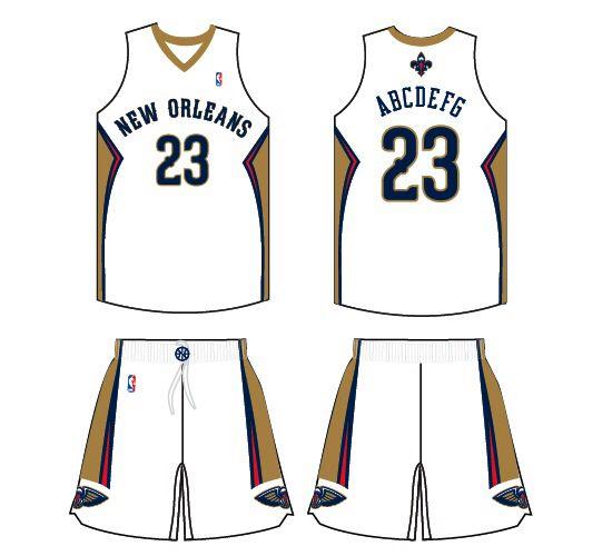 New Orleans Pelicans Home Uniform 2013 14 Present New