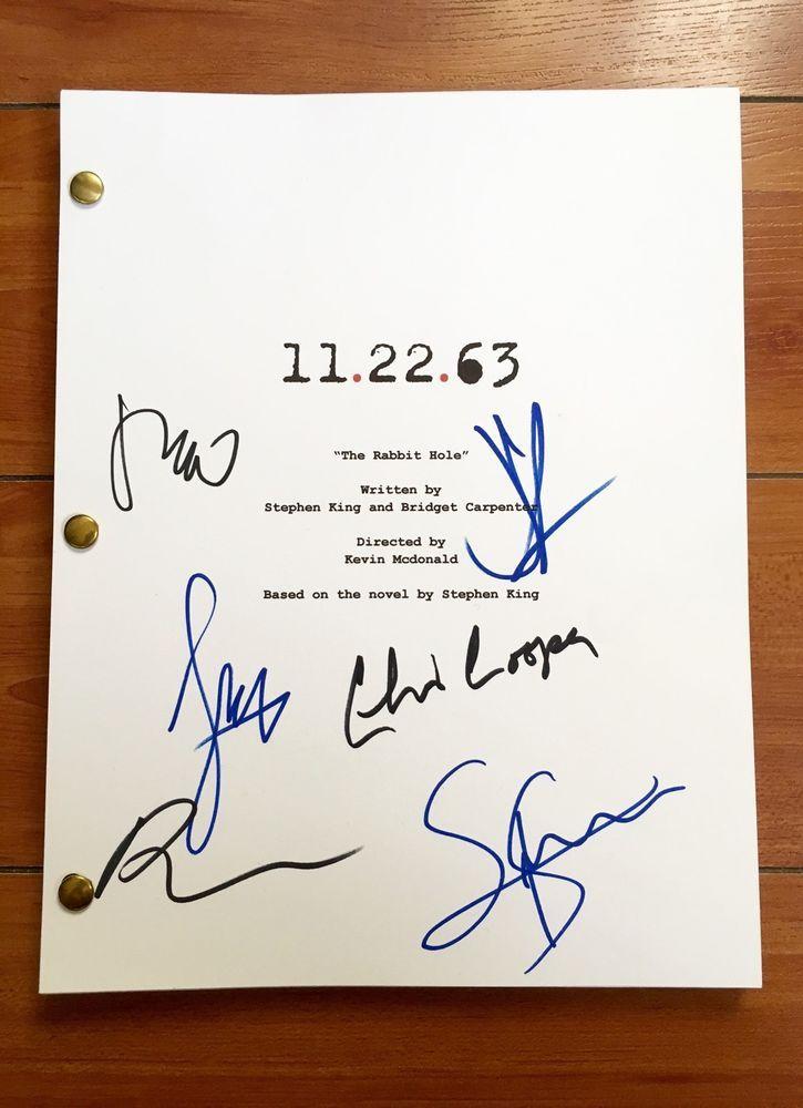 11.22.63 Signed Full Pilot Script By X7 Cast James Franco Sarah Gadon W/proof from $700.0