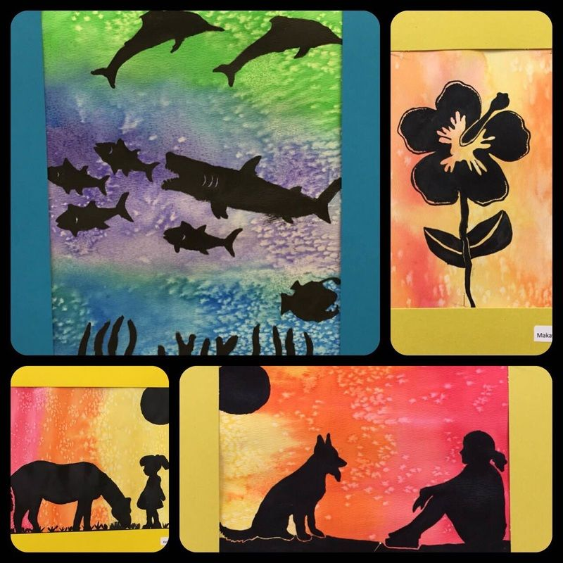 Watercolor Resist With Silhouettes Middle School Art Kura
