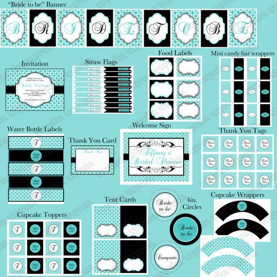 Printable Party Decorations & Cupcake Wrappers by CupcakeExpress