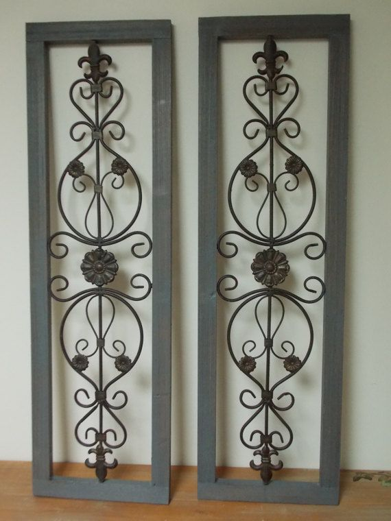 Wall Art Shutters Set Of 2 Incl In Price Wood And Metal