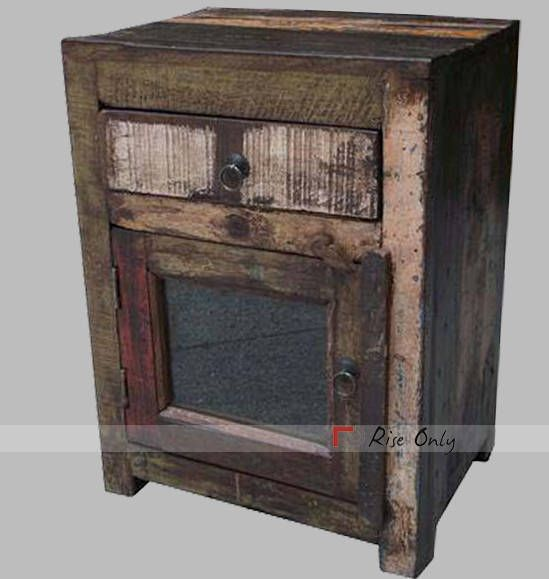 Vintage Beautiful Handmade Handicraft Bedside Made From Riseonly Com I Recycled Wood Bedside Table Reclaimed