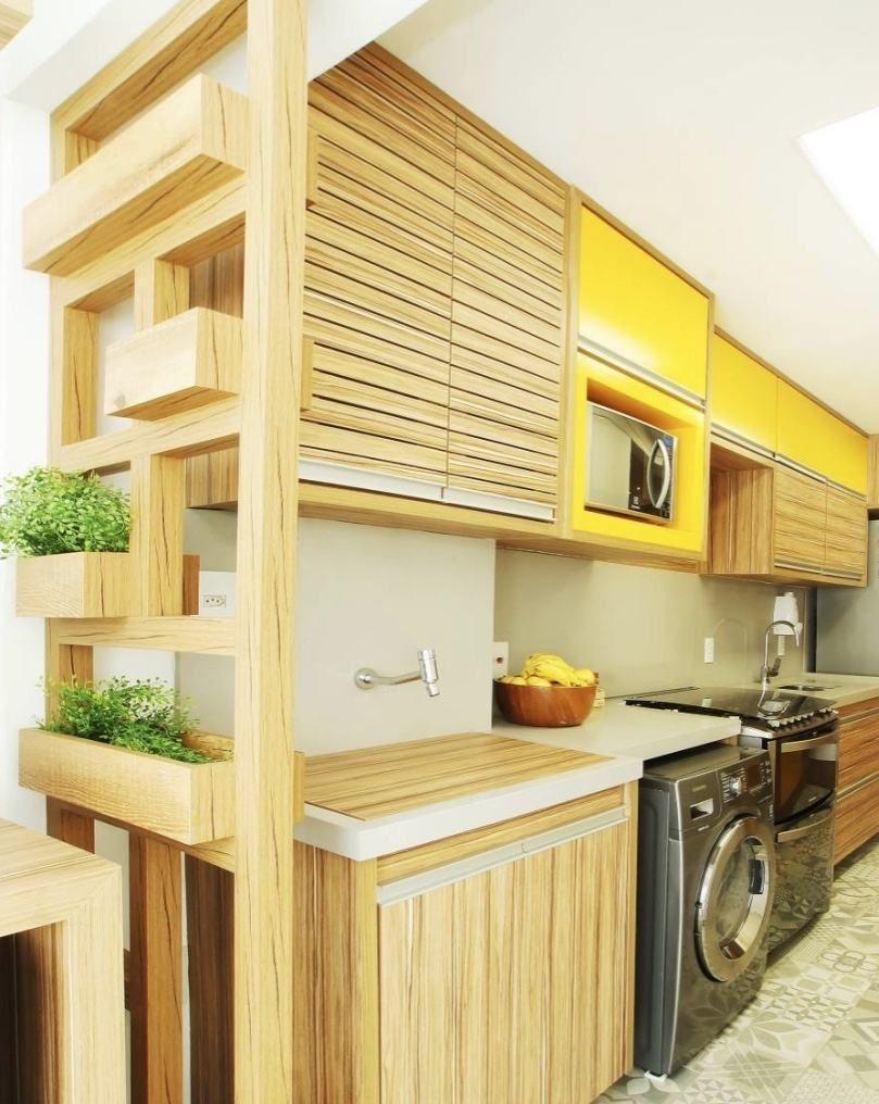Cozinhas Com Lavanderias 60 Modelos Fotos Lindas Sala Cozinha
