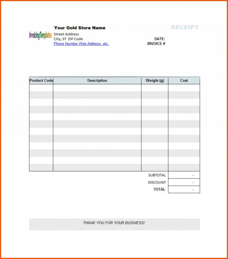 005 Blank Receipt Template Pdf Ideas Editable Invoice Pertaining