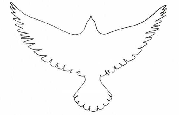 Papier Vogel Vorlage Ausschneiden Hochzeit