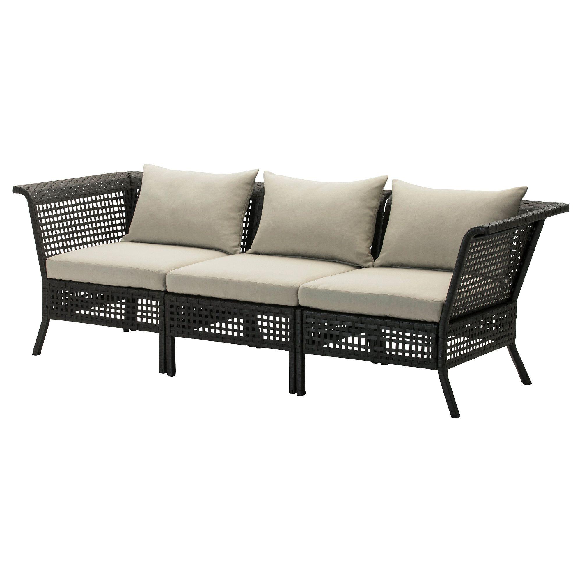 KUNGSHOLMEN Sofa outdoor black brown beige H¥llö beige