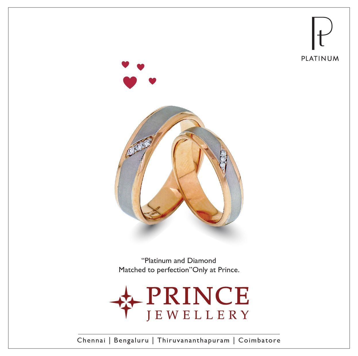 Pin by Prince Jewellery on Platinum Soulmate Collections