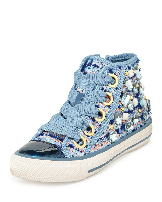 Vanessa Bluelast Denim Call Top High Sneaker Embellished UVzSpM