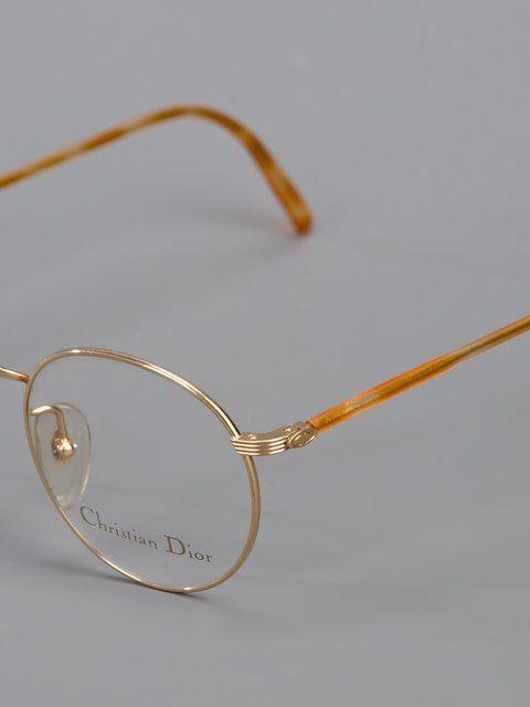 Christian Dior Round Frame Glasses Farfetch Christian Dior Vintage Dior Christian Dior