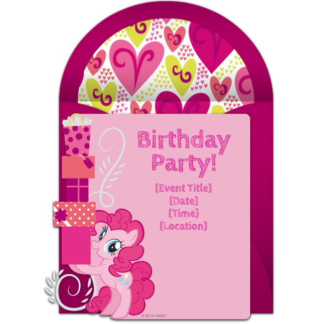 Send Free My Little Pony Invitations For Your Next Party We Love This Template Starring Pinkie Pie A Birthday