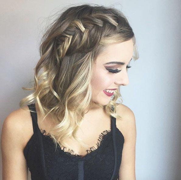 Side crown braid by Emily Hill | Braided prom hair ...