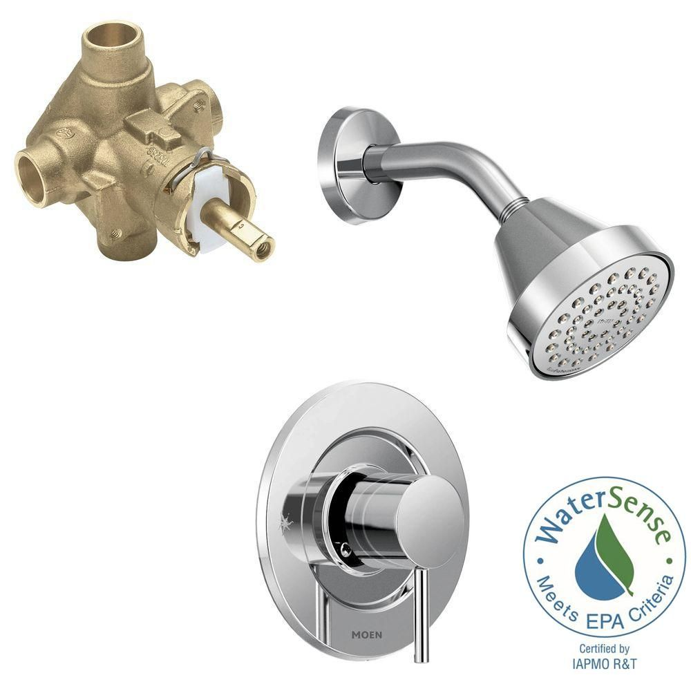 MOEN Align Single-Handle 1-Spray Shower Faucet Trim Kit with Valve ...