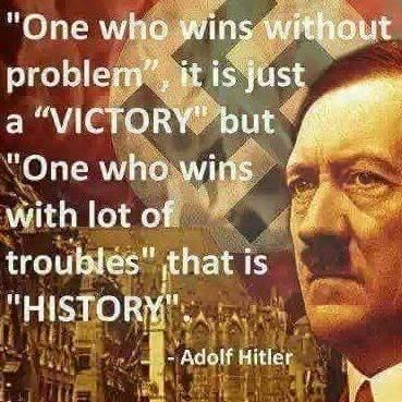 one who wins without problem it is just a victory but one who