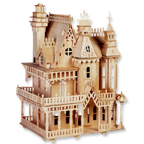 Bouwpakket poppenhuis 39 villa fantasia 39 1 24 dollhouse for Groot poppenhuis