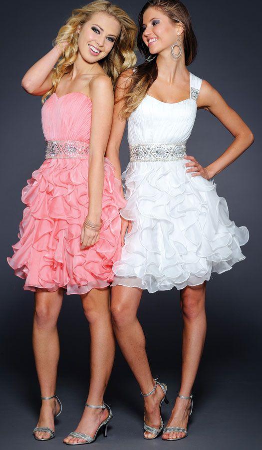 Vestidos de fiesta cortos 2013 para jovenes blancos