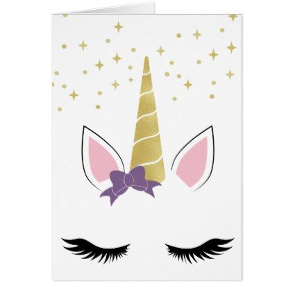 Violet The Unicorn Birthday Card