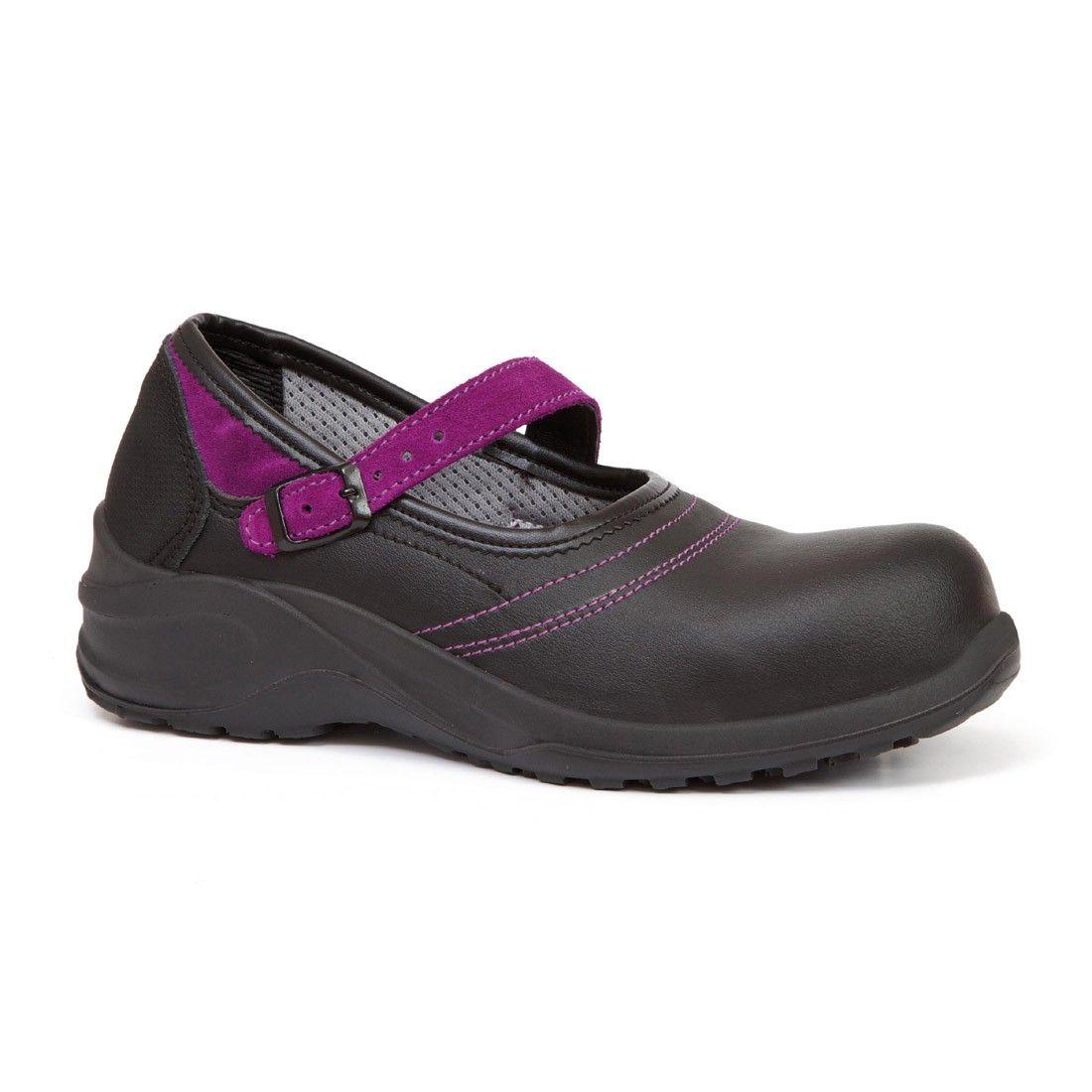 Giasco violet microwash esd black ladies ballerina safety