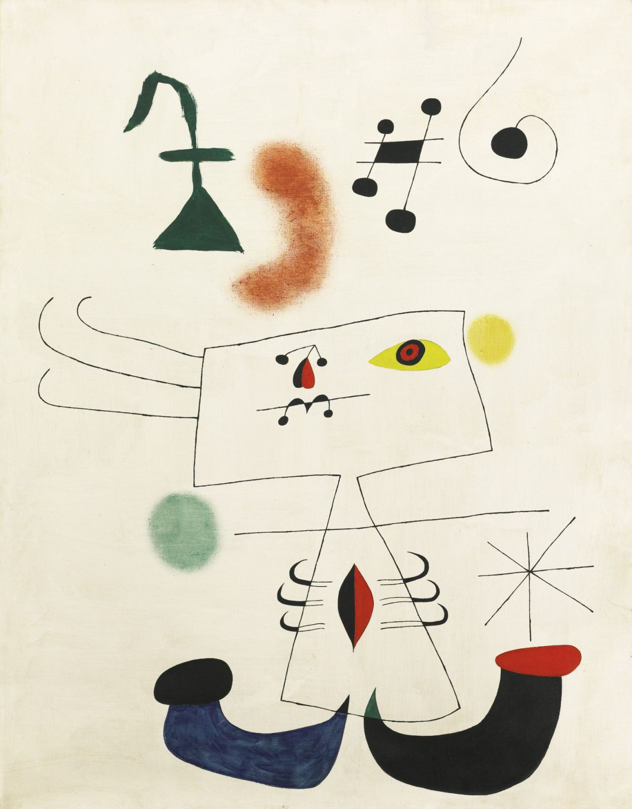 Joan Miró (1893- 1983) Femme rêvant de l'évasion (Woman Dreaming of Escape) 1 February 1945 oil on canvas 146 x 114 cm