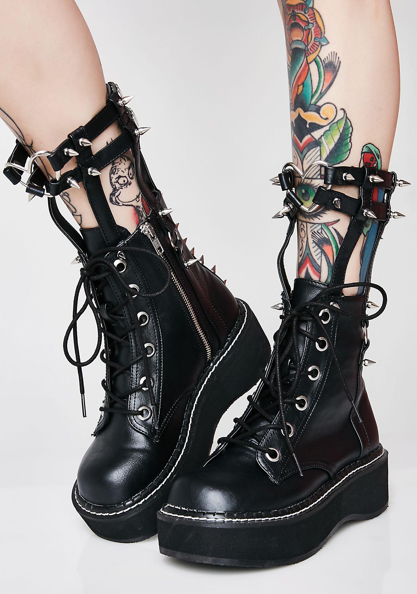 7d4a58ae76e Demonia Devil In Disguise Caged Boots  goth  punk  alternative