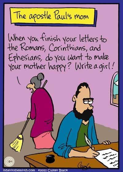 Paul's mom   Laughing in Church   Bible humor, Church ...