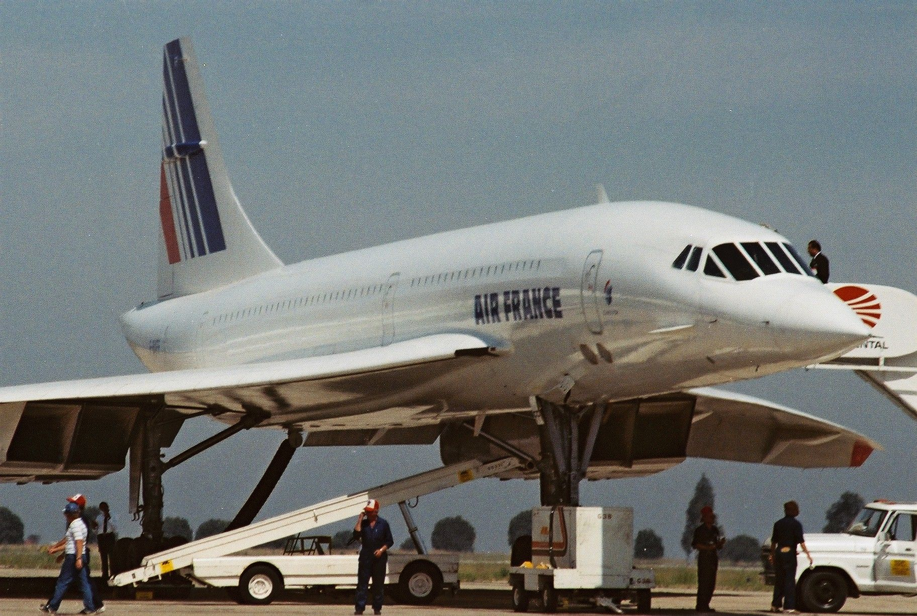 Concorde FBVFF at Air Show in San Diego 1988 JeanLouis