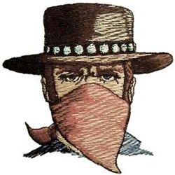 Outlaw embroidery design