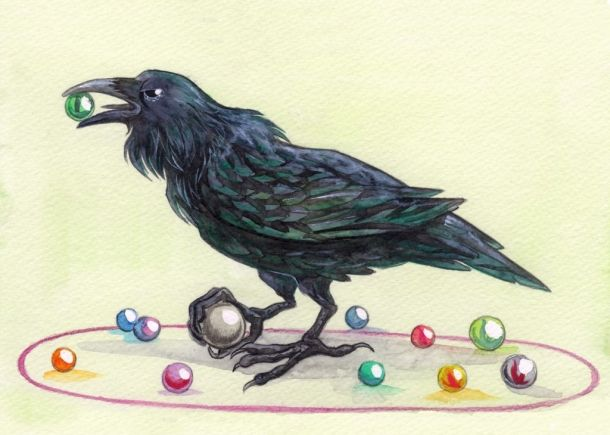 Marbles and a raven! Raven, Raven tattoo, Fabric decor