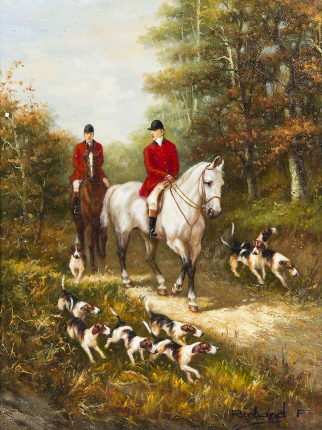 Fox Hunting Painting Google Search