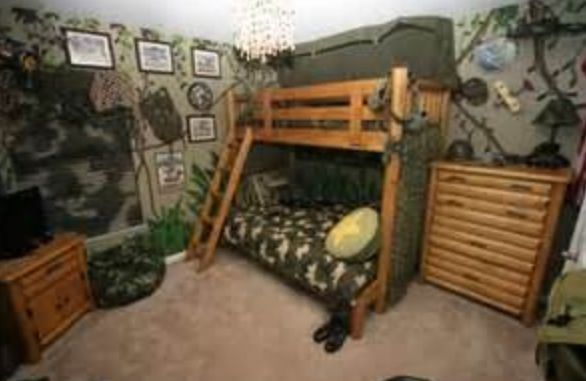. Army kids room   Son s Room     Camo bedroom boys  Camo rooms  Cool