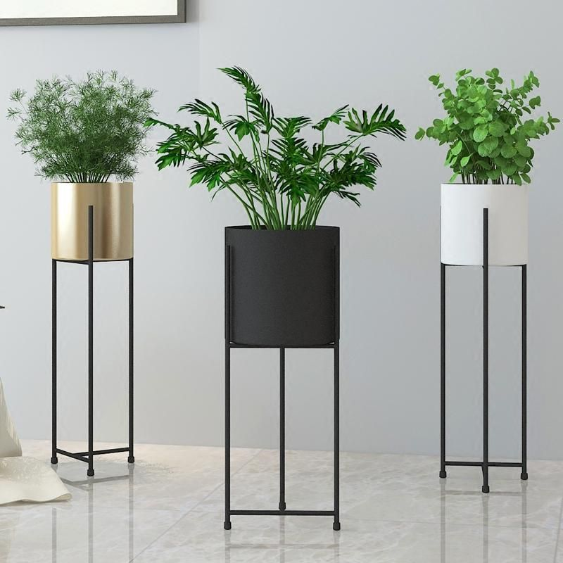 House Plants For Shady Rooms: Tall Cast Iron Flower Pot Stand With Large Vase
