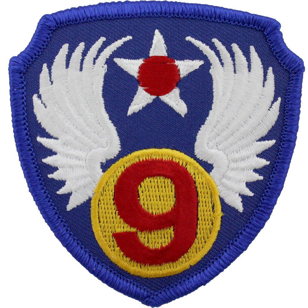 WWII Army Air Corps 9th Air Force Class A Patch Air