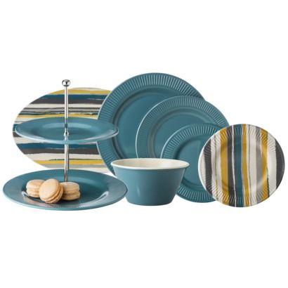 Threshold Trout Stream Dinnerware Collection - GrayTeal  sc 1 st  Pinterest & Threshold Trout Stream Dinnerware Collection - GrayTeal   kitchen ...