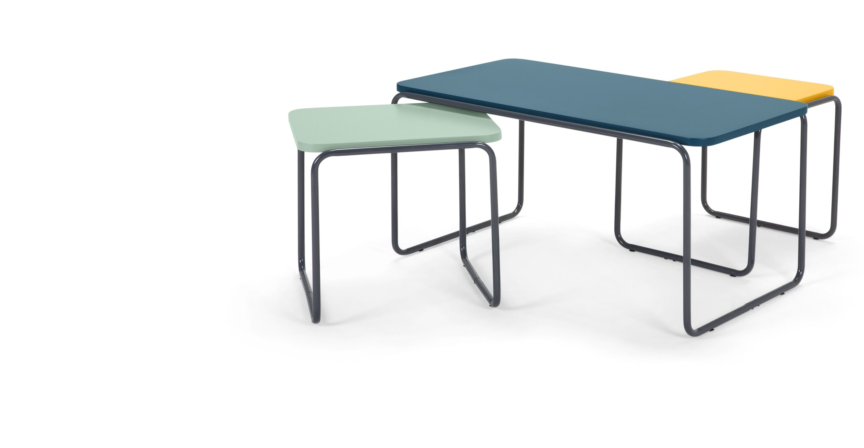 Best Hill Coffee And Set Of 2 Nesting Side Tables Multicolour 400 x 300