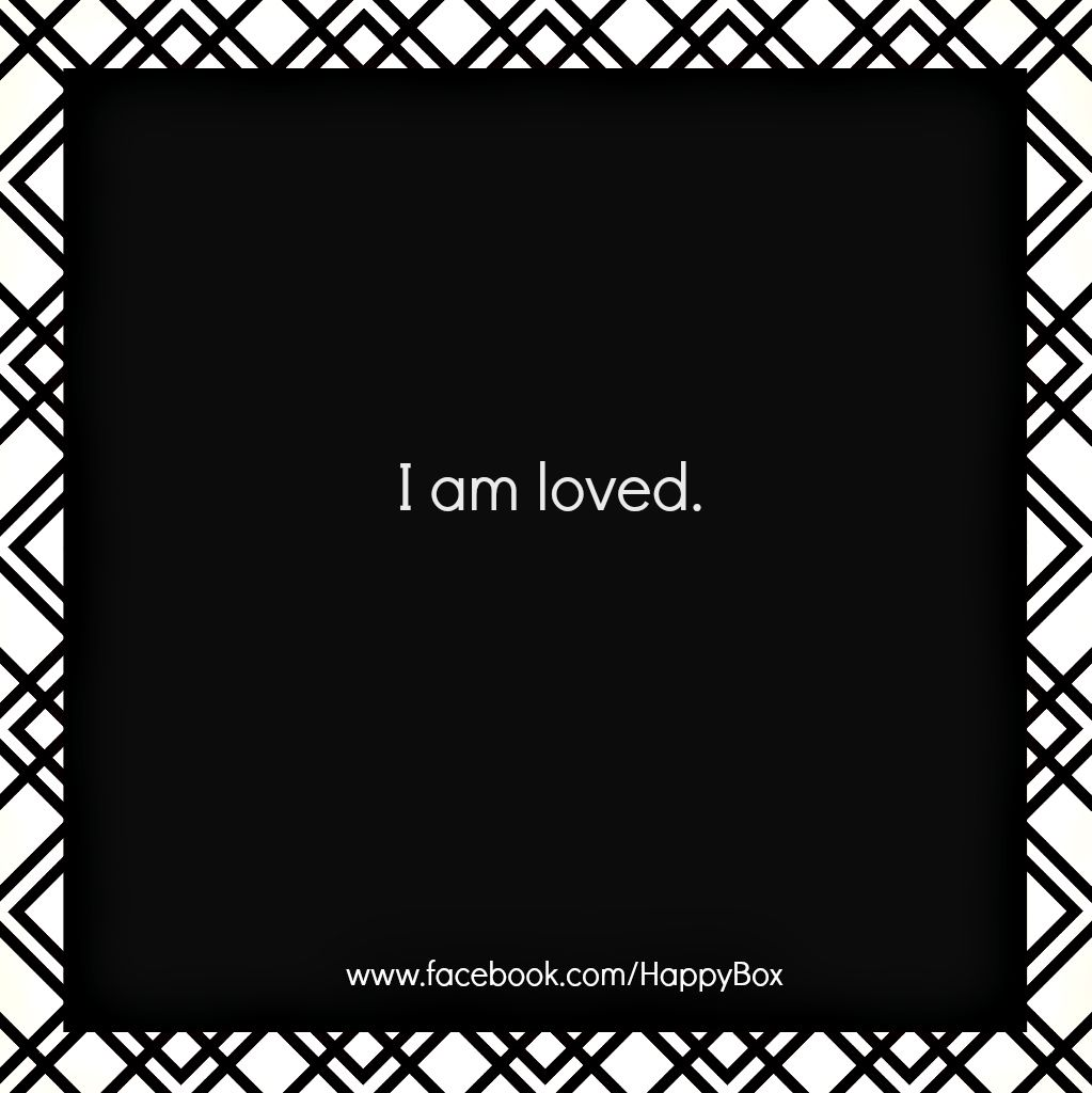 I am loved. #affirmations #quotes  For More Positive Affirmations & Quotes visit www.take-ten.com