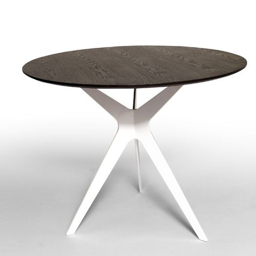 Could buy this for the base and have a custom marble top made, or find a company that does custom/ separate pieces (Bellini Modern Living Evolve Dining Table)