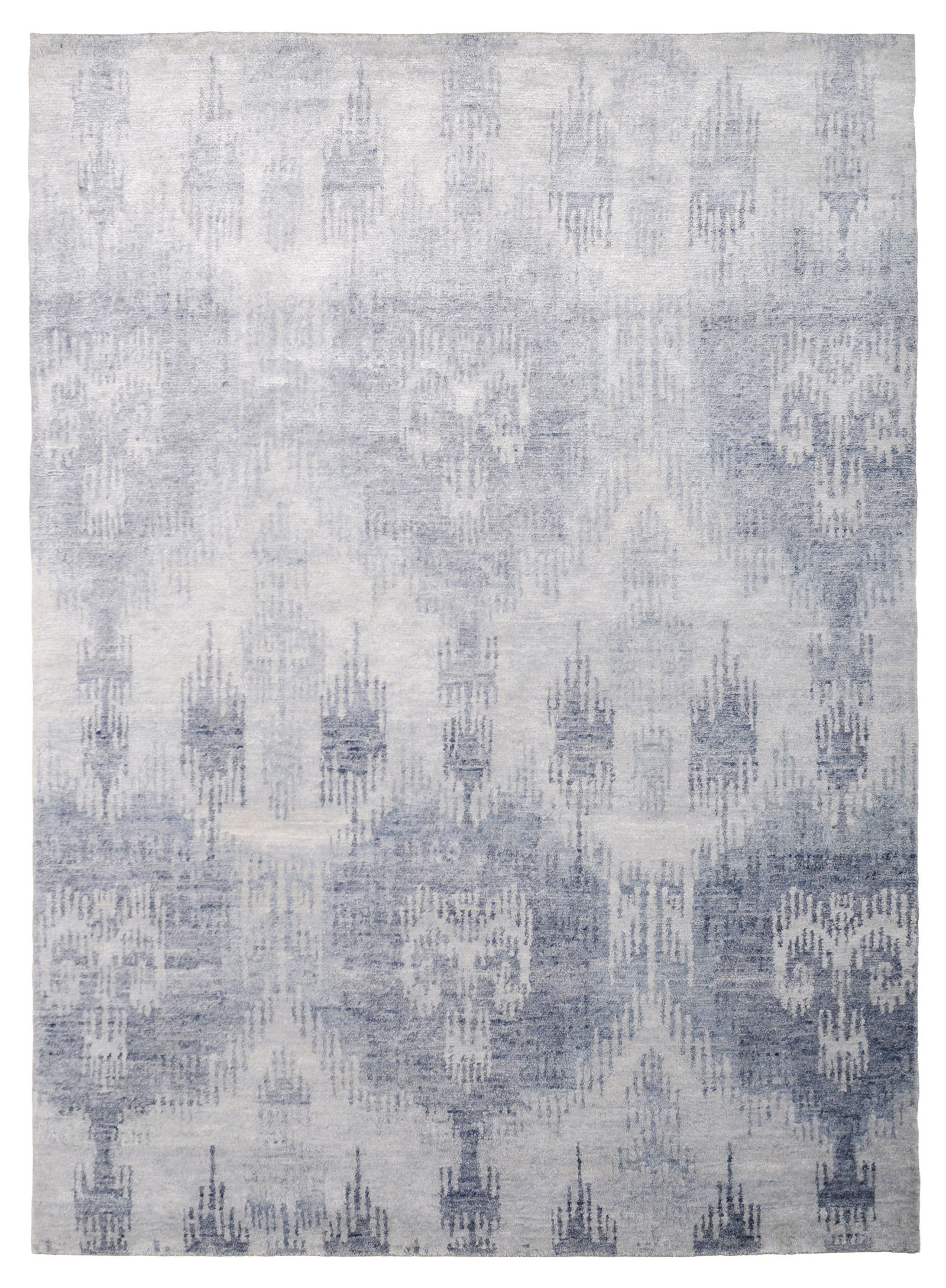 Bamboo Ikat Blue By The Rug Company