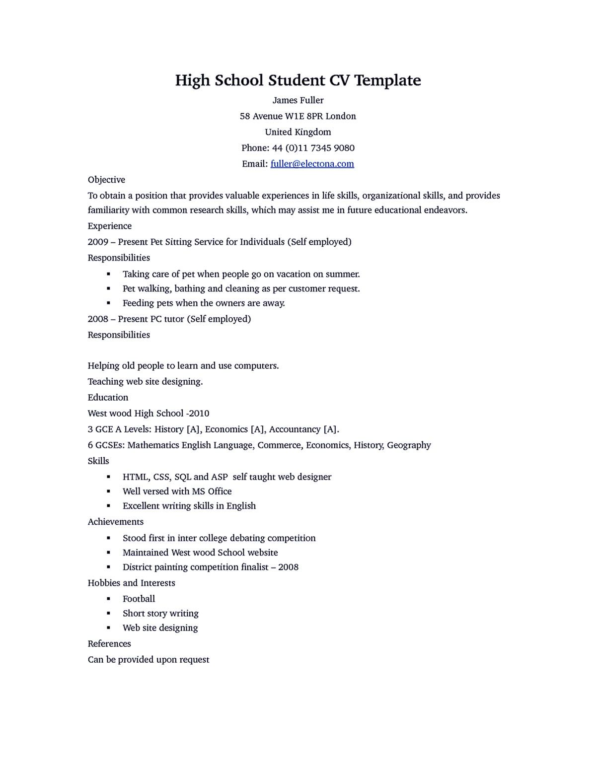 Scholarship Resume Template Academic Resume Template Shows You How The Layout Of An Academic