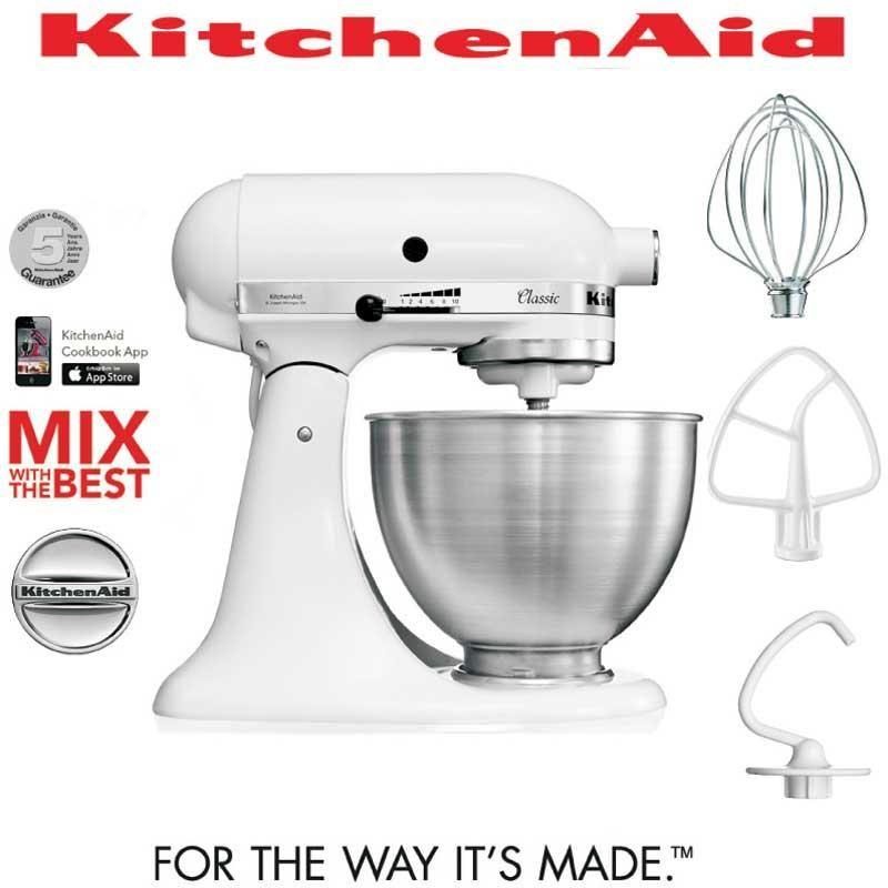 Batidora amasadoras mezcladora Kitchenaid Classic 5k45ssewh color ...
