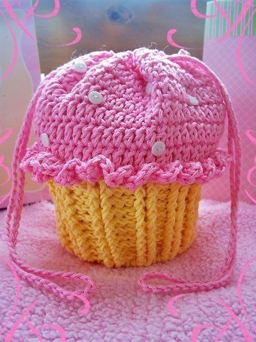 Cupcake Party Purse   Croché   Pinterest   Infantiles, Bolsos y Tejido