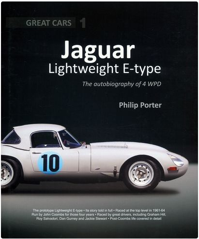 Jaguar Lightweight E-type €63,50 http://www.autonetcarbooks.com/jaguar-lightweight-type-p-433667.html This Great Cars book outlines in exhaustive detail the history of the most important competition Jaguar E-type. Run by John Coombs with factory support and driven by some of the best racing drivers of the day, this car took part in the E-type's first motor race and later became the prototype all-aluminium Lightweight E-type.