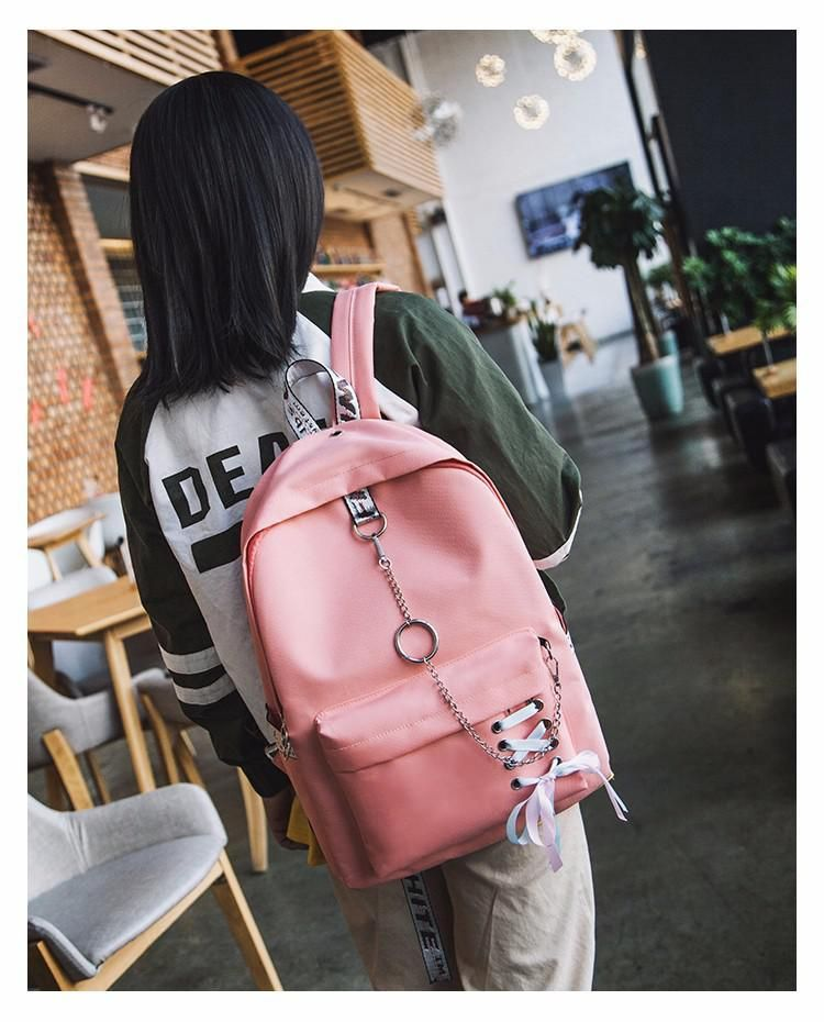 91cd01dc47 Ribbons Hanging Chain Ring Teenage Girls Backpack in 2019 ...