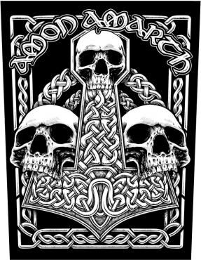 Amon Amarth Logo Patch Viking Death Metal Music Band Fan Jacket Sew On Applique Black