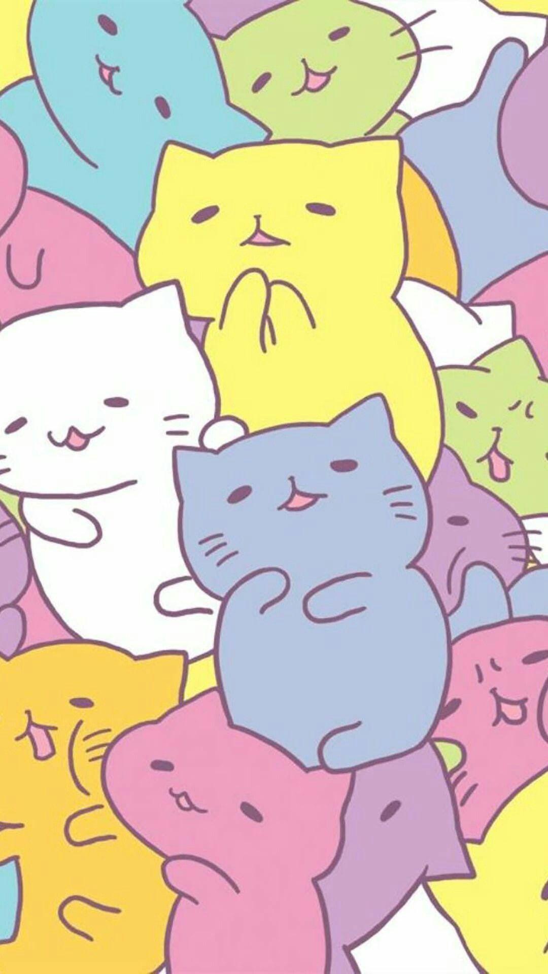 Kawaii Anime Cat Android, iPhone, Desktop HD Backgrounds
